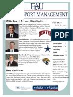 MBA Sport Newsletter Fall 2014