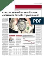 Costo de Créditos en Dólares Se Encarecerá El Próximo Año_Gestión 26-09-2014