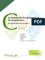 Le Portefeuille d'expériences et de compétences. Cereq,Relief 39, 2012