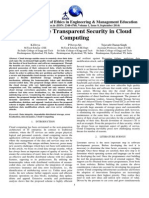 Data Storage Transparent Security in Cloud Computing