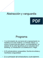 Abstraccion y Vanguardia