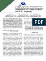 Lie Transparent Migration for Virtual Machines for Cloud Computing