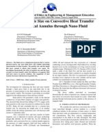 Effect of Partial Size on Convective Heat Transfer in Cylindrical Annulus Through Nano Fluid