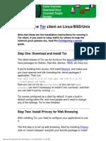 Tor Linux BSD Unix Install Instructions