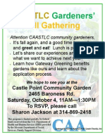 CAASTLC Fall Garden Gathering