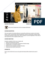 fashion strategies course disclosure