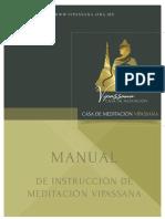 Manual Vipassana 2014