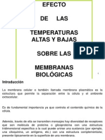 Efecto de La Temperatura Sobre Las Membranas Biologicas