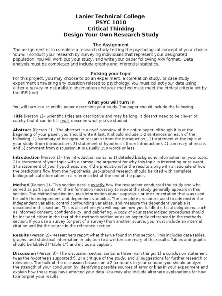 2012 PSYC 2012 Critical THinking Assignment_1 | Citation