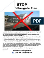 Stop Walkergate Plan Petition