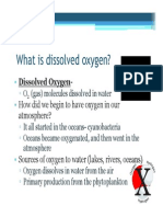ppt dissolved oxygen in the environment