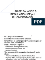Acid Base Balance & Regulation of Ph