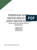 Perbedaan Antara Audit Sektor Privat Dan Audit Sektor Publik Di Indonesia