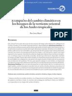 El impacto del cambio climático en los bosques de la vertiente oriental de los Andes tropicales