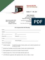 2014 OA Fall Fellowship Flyer