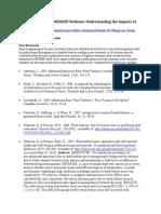 Webinar Bibliography, 7/13/2010