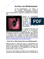Vitrectomia Para Las Miodesopsias Como Es?