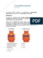 Diferencia Entre Gas Ideal y Real