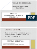 1. Diseño y Evaluacion de Proyectos