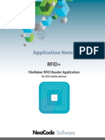 RFID+ Reader iOS Application Notes