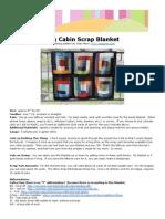 Log Cabin Scrap Blanket v 2