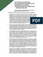 ¡LA DOCTORA YOLOXÓCHITL DESACALIFICA DEMANDAS LEGITIMAS Y UN MOVIMIENTO LEGITIMO!