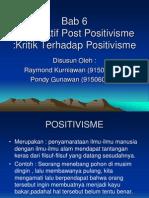 Tugas Post Positivisme oleh mahasiswa