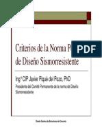 Criterios de La Norma Peruana de Sismoresistente