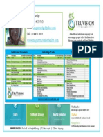 Product & Price Sheet