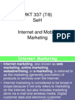 Internet MArketing and Mobile Marketing