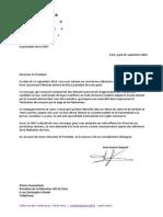 14.09.25 Lettre JL Dupont à P Gassenbach