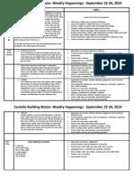 sept 22-26 2014 weekly happenings