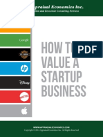 How to Value a Startup Business