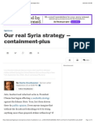 Our Real Syria Strategy Washington Post