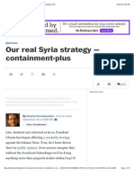Our Real Syria Strategy Washington Post