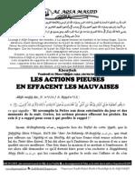 LES ACTIONS PIEUSES  EN EFFACENT LES MAUVAISES