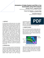 Optimization of Intake System and Filter of an Automobile Using CFD Analysis