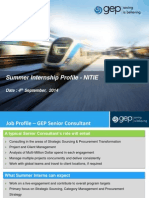 Summer Internship - Profile - GEP