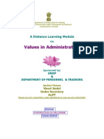 Values in Administration (DOPT)