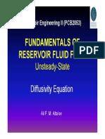 Diffusivity Equation