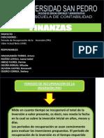 Diapositiva de Finanzas