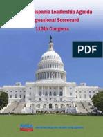 National Hispanic Leadership Agenda Congressional Scorecard 113th Congress