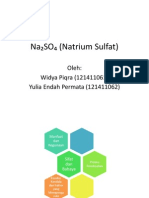 Na₂SO₄ (Natrium Sulfat)