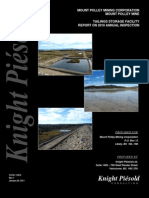 Mount Polley Mine Tailings Storage Facility Report on 2010 annual inspection, by Knight Piesold
