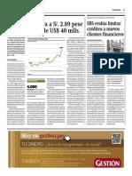 SBS Evalúa Limitar Créditos a Nuevos Clientes Financieros_Gestión 26-09-2014