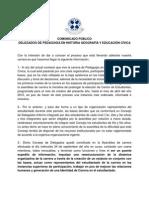 Comunicado Público Pedagogía en Historia UFRO