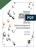 Performance Considerations for Custom Theme Development