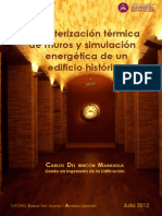 Caracterizacion Térmica de Muros y Simulación Energética de Un Edificio Histórico