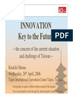 Innovation - Key to the Future _Kenichi Ohmae