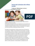 La Importancia de La Lectura de Niños en Edad Escolar